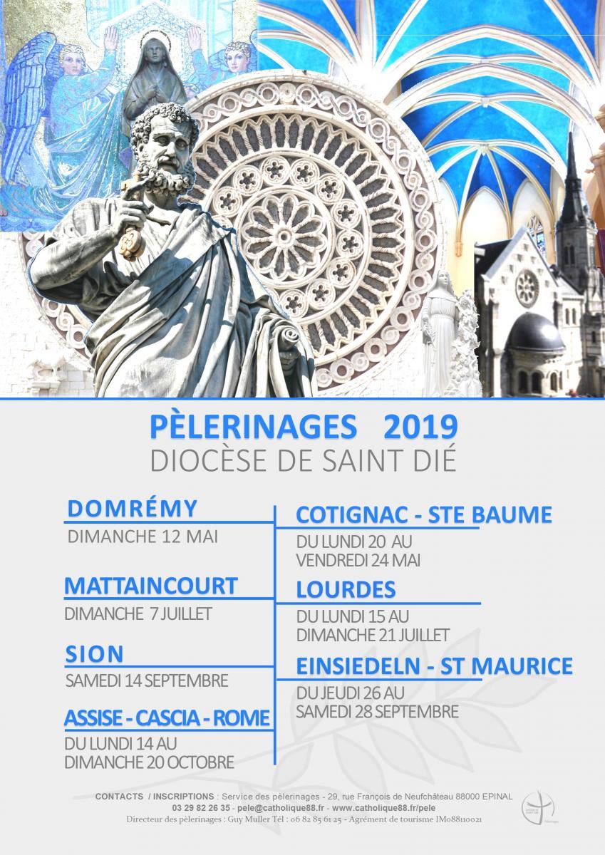 Calendrier Des Pelerinages Lourdes 2019.Pelerinages Diocese De Saint Die
